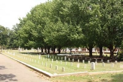 Magnolia Cemetery Confederate Dead section image. Click for full size.