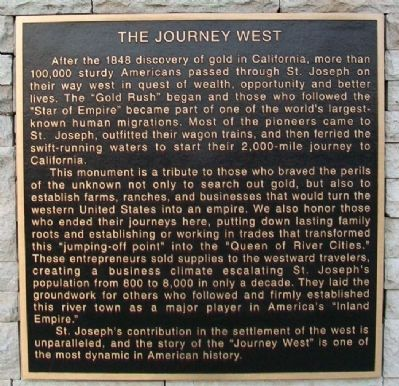 The Journey West Marker image. Click for full size.