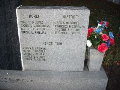 Right Panel - - Martin County Honor Roll Marker image. Click for full size.