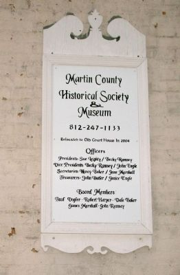 Sign - - Martin County Museum image. Click for full size.