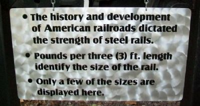 Rail Marker at C. B. & Q. 5614 Steam Locomotive Display image. Click for full size.