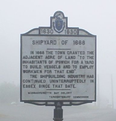 Shipyard of 1668 Marker image. Click for full size.