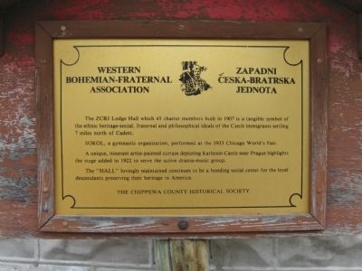 Western Bohemian-Fraternal Association Marker image. Click for full size.