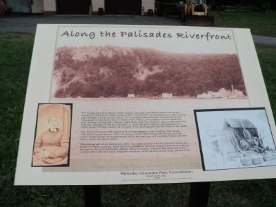 Along the Palisades Riverfront Marker image. Click for full size.