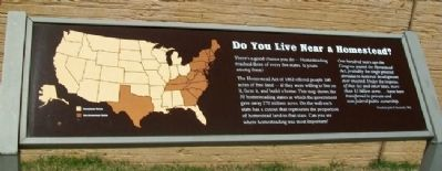 Do You Live Near a Homestead? Marker image. Click for full size.