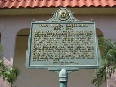 West Tampa Centennial Marker image. Click for full size.