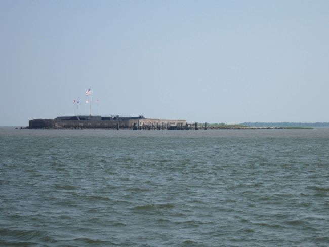 Fort Sumter from the Tour Boat image. Click for full size.