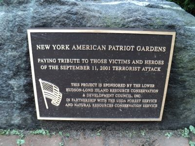 New York American Patriot Gardens Marker image. Click for full size.