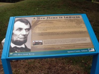 A New Home in Indiana Marker image. Click for full size.