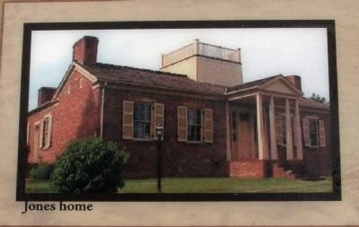"Marker Photo - - ""Jones Home"" image. Click for full size."