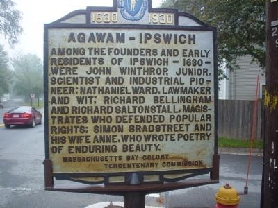 Agawam - Ipswich Marker image. Click for full size.