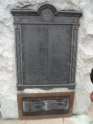 Honor Roll World War Marker Photo, Click for full size