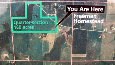 Freeman Homestead on Boundaries of Freedom Marker image. Click for full size.