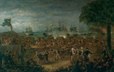Battle of Fort Moultrie image. Click for full size.