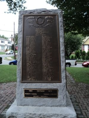 Roll of Honor Marker (East Side) Photo, Click for full size