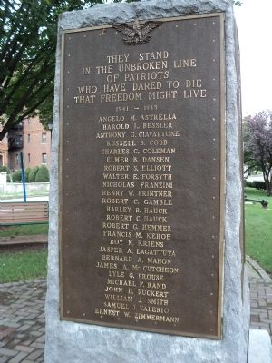 Roll of Honor Marker (South Side) Photo, Click for full size