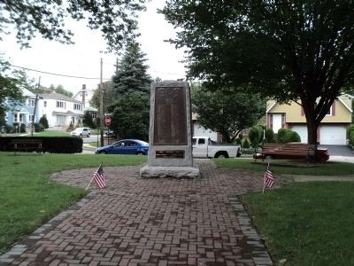 War Monument in Hasbrouck Heights Photo, Click for full size