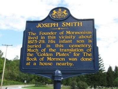 Joseph Smith Marker Photo, Click for full size