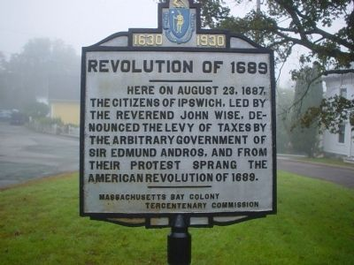 Revolution of 1689 Marker image. Click for full size.