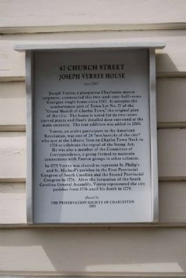 Joseph Verree House Marker image. Click for full size.