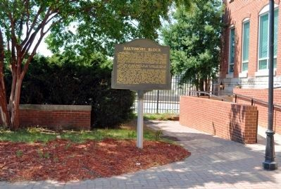Baltimore Block Marker Photo, Click for full size