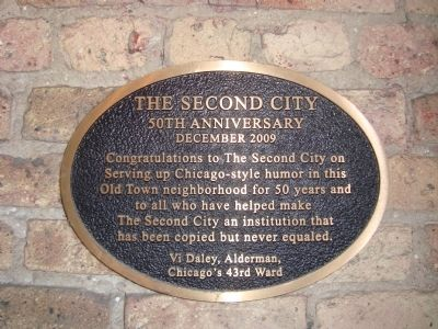 Second City Marker image. Click for full size.