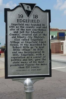 Edgefield Marker image. Click for full size.
