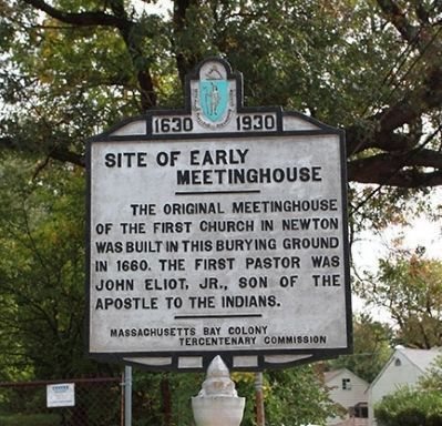Site of Early Meeting House Marker image. Click for full size.