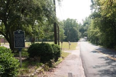 Furman Academy and Theological Institute Marker, looking south on Church Street Photo, Click for full size