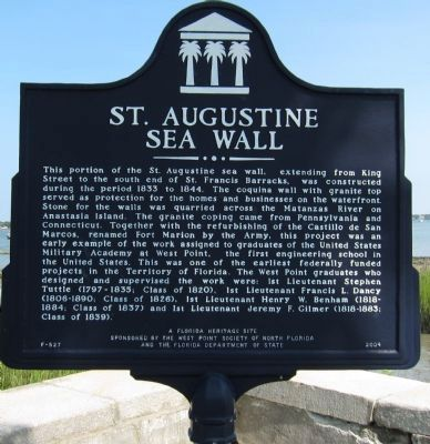 St. Augustine Sea Wall Marker Photo, Click for full size