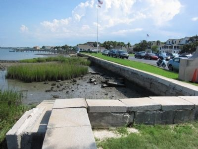 Seawall in front of St. Francis Barracks Photo, Click for full size