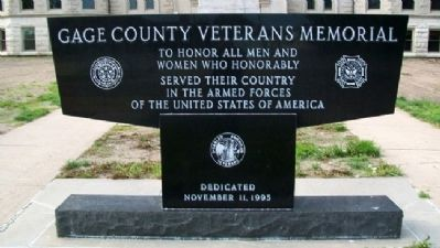 Gage County Veterans Memorial image. Click for full size.
