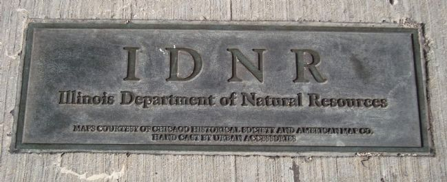 Illinois Department of Natural Resources Monument Plaque image. Click for full size.