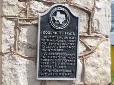 Goodnight Trail Marker image. Click for full size.