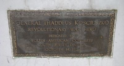 General Thaddeus Kosciuszko Marker image. Click for full size.