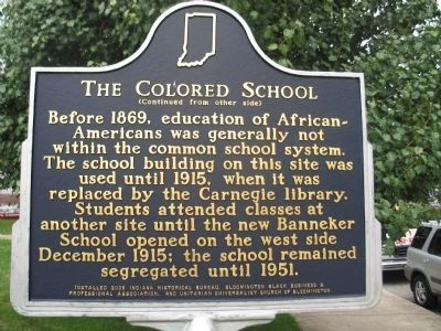 The Colored School Marker image. Click for full size.