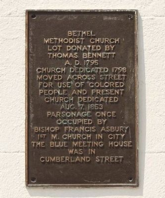 Bethel Methodist Church Marker image. Click for full size.