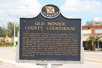 Old Monroe County Courthouse Marker image. Click for full size.