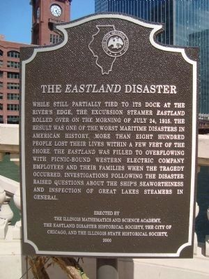 The <i>Eastland</i> Disaster Marker image. Click for full size.