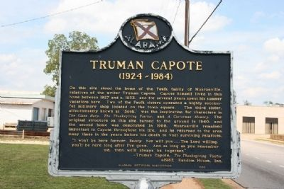 Truman Capote Marker image. Click for full size.