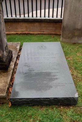 Dr. James Moultrie Tombstone Photo, Click for full size