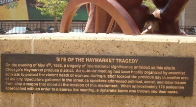 Site of the Haymarket Tragedy Marker #1 image. Click for full size.
