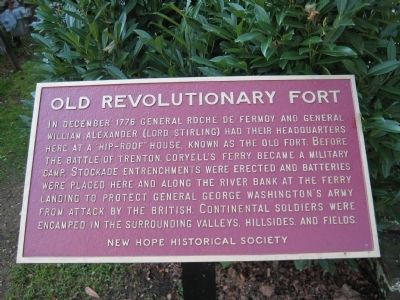 Old Revolutionary Fort Marker image. Click for full size.