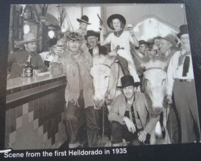 Photo on Helldorado Marker image. Click for full size.