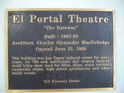 El Portal Theatre Marker image. Click for full size.