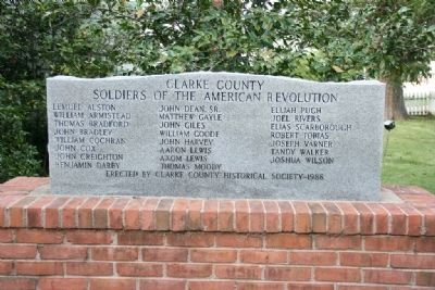 Clarke County Soldiers Of The American Revolution Marker image. Click for full size.