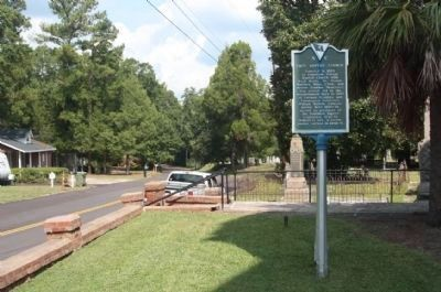 First Baptist Church / Village Cemetery Marker looking north on Church Street image. Click for full size.