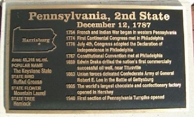 Pennsylvania, 2nd State Marker Photo, Click for full size