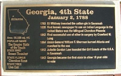 Georgia, 4th State Marker Photo, Click for full size