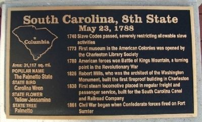 South Carolina, 8th State Marker Photo, Click for full size